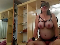 bbw mom humping on top of hard dick in a cowgirl position