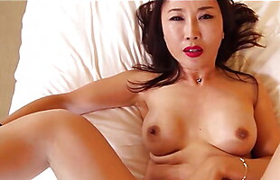 Chinese single mom gets hot and naughty with a young white