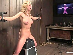 Mason in MasonFormer college track star bound on sybian made to cum - DeviceBondage