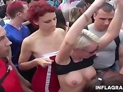 love parade berlin in public