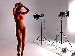 Nude college model photoshoot