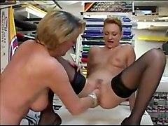lesbian anal fisting mature style