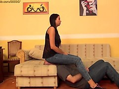 jean, face sitting, face sit, jeans, clips4sale