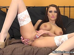 Horny pornstar Alexis Grace in Exotic Stockings, Redhead porn scene