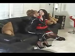 bondage latex girl on girl clip