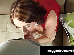 horny hottie maggie green likes her g-spot vibrator on high!