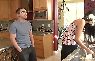 Hot MILF craving for her Stepson&#039_s dick