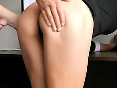 Horny Young secretary sucks bosses dicks and gets anal
