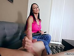 Reagan Foxx  wants to be a cool mom by fucking with her pervert stepson Ike Diesel.