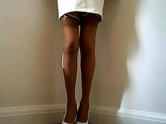 suzy's office suit with stockings