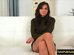 auditioning euro beauty creampied by agent