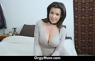 My Hot Mom Seduced Me Wearing Hot Panties - OrgyMom.com