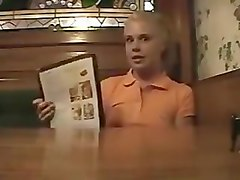 Brittany-little summer masturbates in a restaurant