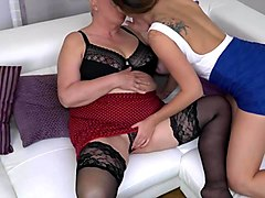 big mother licks and fucks lucky daughter