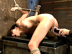 Skinny Girl With An Amazing Ass Takes Some Pain. Is Further Terrorized By Massive Orgasms Overload - HogTied