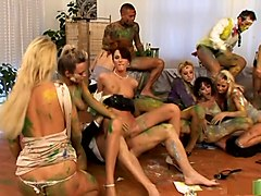 Crazy pornstars Josette Most, Renata Black and Sharka Blue in exotic group sex, hd adult clip