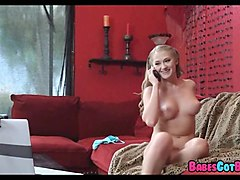 big sausage pizza for  horny blonde