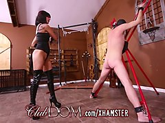 mistress arena gets fucked with dildo