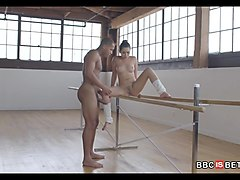 ballerina babe gets black dick