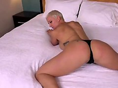 Short-haired MILF...loves to cum