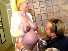 Pregnant Babe With Milk-Swollen Jugs Pt1