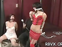 Chubby gal gets her tight pussy examined thoroughly