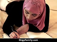 Big Tit  Ella Knox Gets Banged By Her Step Brother in Hijab | OrgyFamily.com