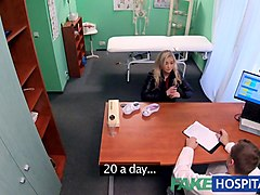 fake hospital petite blonde deepthroats a thick dick