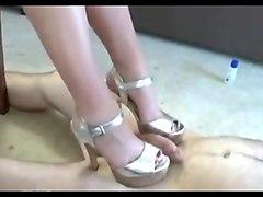 Amateur shoejob