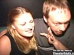 blonde freak on leash sperm spray theater gangbang