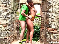dude fucks naughty hottie with big boobs chrissy fox in the old castle