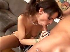 Exotic pornstar Syren De Mer in crazy brunette, blowjob porn scene