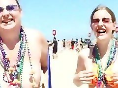 girls going crazy south padre island texas - part 1