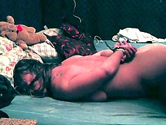 Chunky amateur brunette submits to every inch of hard meat