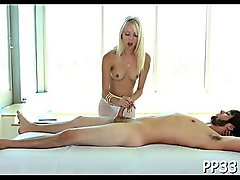 Gratifying playgirl with oil massage