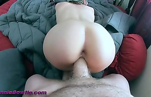 POV Doggystyle with fat ass little white girl