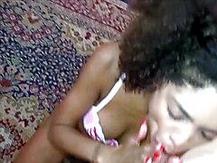 Ebony Teen Hooker Luna Corazon no Condom Creampie Drip Sex