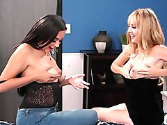 Lesbians have lactating breasts - Zoey Foxx and Aali Kali - Girlsway