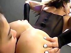 lesbian nylon facesitting