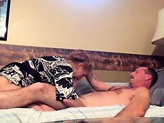 Lustful wife gives a hot blowjob and receives a hard fucking