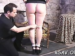 unmerciful bondage time for curvy chick with admirable rack