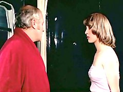 hot blonde french milf blows dick of a mature chubby guy