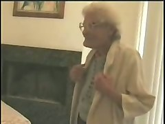granny with big saggy boobies seduced and fed with a dick