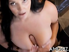 smoking mature gets mercilessly screwed by a skillful stud