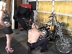 long nailed motor chick gets fucked