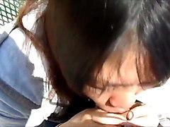 asian blowjob outside