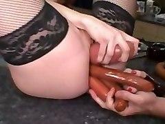 Hottest pornstar Audrey Hollander in amazing dildos/toys, redhead porn movie