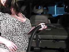 Huge boobs woman pleases her boss at work