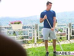 babes - step mom lessons - window watching