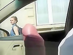 Man flashing dick in car